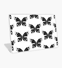 Graphic Butterfly B&W - Shee Vector Pattern Laptop Skin