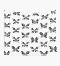 Graphic Butterfly B&W - Shee Vector Pattern Wall Tapestry