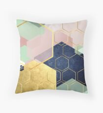 Luxe Geometric Throw Pillow
