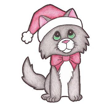 Christmas cat by hamzabarcelonaa