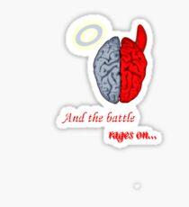 Mind Battle Tee Sticker