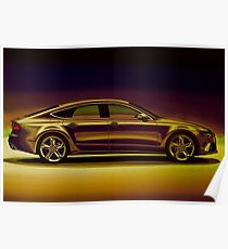 Audi RS7 2013 Mixed Media Poster