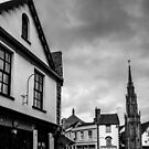 Glastonbury Town Centre Black and White by craig-reeves