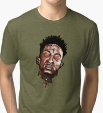 21 Savage Red Eyes T Shirt Tri-blend T-Shirt