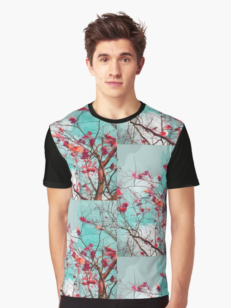 Leaves on branches Graphic T-Shirt Front