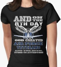 Air force patch veterans custom squadron bomb hand Women's Fitted T-Shirt