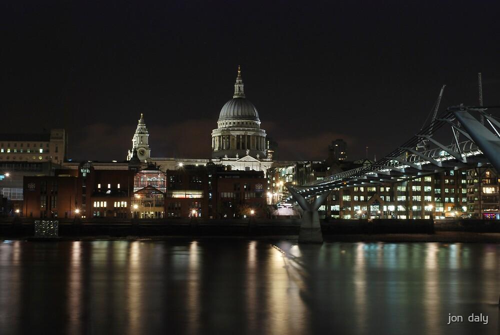 st pauls and millenium bridge by jon  daly
