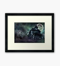 The Haunted House Paranormal Framed Print