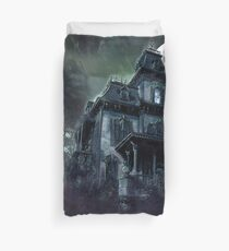 The Haunted House Paranormal Duvet Cover