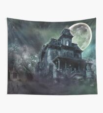 The Haunted House Paranormal Wall Tapestry
