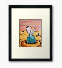The Sun Is The Same acrylic painting Framed Print