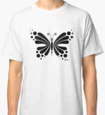 Hypnotic Butterfly B&W - Shee Vector Shape Classic T-Shirt