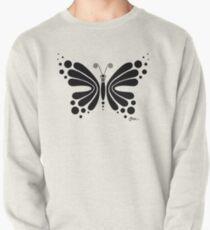 Hypnotic Butterfly B&W - Shee Vector Shape Pullover