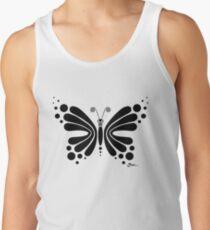 Hypnotic Butterfly B&W - Shee Vector Shape Tank Top