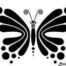 Hypnotic Butterfly B&W - Shee Vector Shape by SheeArtworks