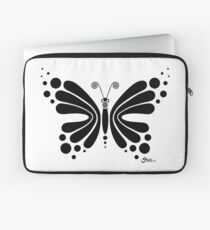 Hypnotic Butterfly B&W - Shee Vector Shape Laptop Sleeve