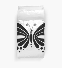 Hypnotic Butterfly B&W - Shee Vector Shape Duvet Cover