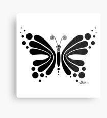 Hypnotic Butterfly B&W - Shee Vector Shape Metal Print