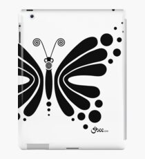 Hypnotic Butterfly B&W - Shee Vector Shape iPad Case/Skin