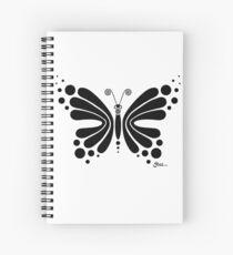 Hypnotic Butterfly B&W - Shee Vector Shape Spiral Notebook