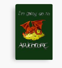 Adventure Smaug Couples Tee Canvas Print
