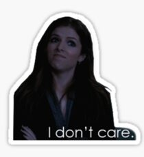 "Anna Kendrick-""i don't care"" Sticker"