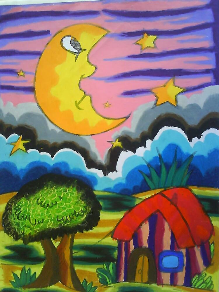 Hellooo Moon :) by Dea 7 yrs old by muti