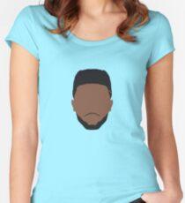 Jaylen Brown Face Art Women's Fitted Scoop T-Shirt
