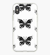Hypnotic Butterfly B&W - Shee Vector Pattern iPhone Case