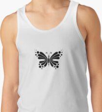 Hypnotic Butterfly B&W - Shee Vector Pattern Tank Top
