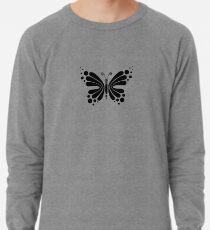 Hypnotic Butterfly B&W - Shee Vector Pattern Lightweight Sweatshirt