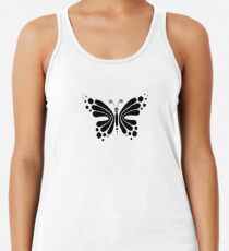Hypnotic Butterfly B&W - Shee Vector Pattern Women's Tank Top