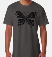 Hypnotic Butterfly B&W - Shee Vector Pattern Long T-Shirt