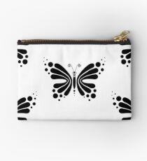 Hypnotic Butterfly B&W - Shee Vector Pattern Studio Pouch
