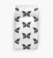Hypnotic Butterfly B&W - Shee Vector Pattern Duvet Cover