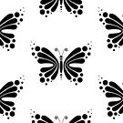 Hypnotic Butterfly B&W - Shee Vector Pattern by SheeArtworks