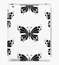 Hypnotic Butterfly B&W - Shee Vector Pattern iPad Case/Skin