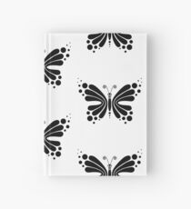 Hypnotic Butterfly B&W - Shee Vector Pattern Hardcover Journal