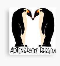 Emperor Penguin Love Canvas Print