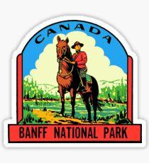 Banff Canada vintage Mountie decal Sticker