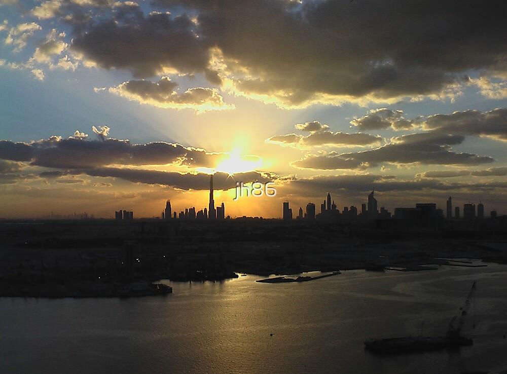 Bur Dubai Skyline by jh86