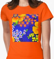 Memories of the 1970s flower power #1  Women's Fitted T-Shirt