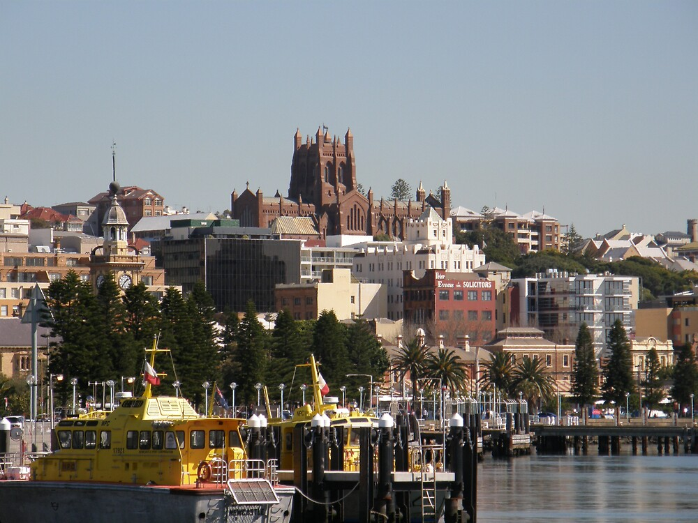 Christ Church Cathedral overlooking Newcastle by Anna D'Accione