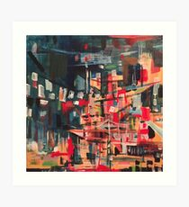 Nighttime with Esquivel Art Print