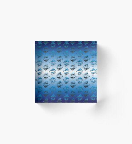 Bear Spirit Blue Acrylic Block