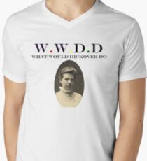 What would Dickover do? Mens V-Neck T-Shirt