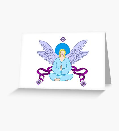 Royal Yoga Angel Greeting Card