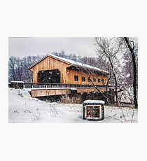 Pepperell MA Covered Bridge Photographic Print