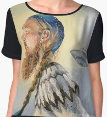 Nordic and Silver Chiffon Top