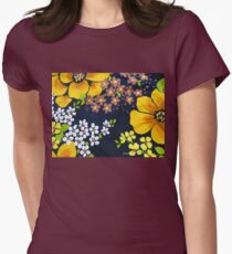 Flower Power 1970s Style #2  Women's Fitted T-Shirt